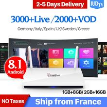 LEADCOOL IPTV Box 1G+8G Android TV Set Top Box HD IPTV Subscription 1 Year IUDTV Account Code Arabic IPTV Europe France Channels