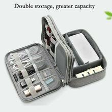 Местный склад электронных аксессуаров органайзер сумка для путешествий кабель USB зарядное устройство хранения 4 стиля