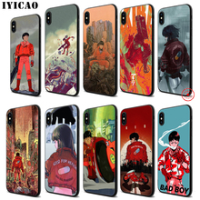 IYICAO Akira Anime Soft Black Silicone Case for iPhone 11 Pro Xr Xs Max X or 10 8 7 6 6S Plus 5 5S SE iyicao riverdale soft black silicone case for iphone 11 pro xr xs max x or 10 8 7 6 6s plus 5 5s se