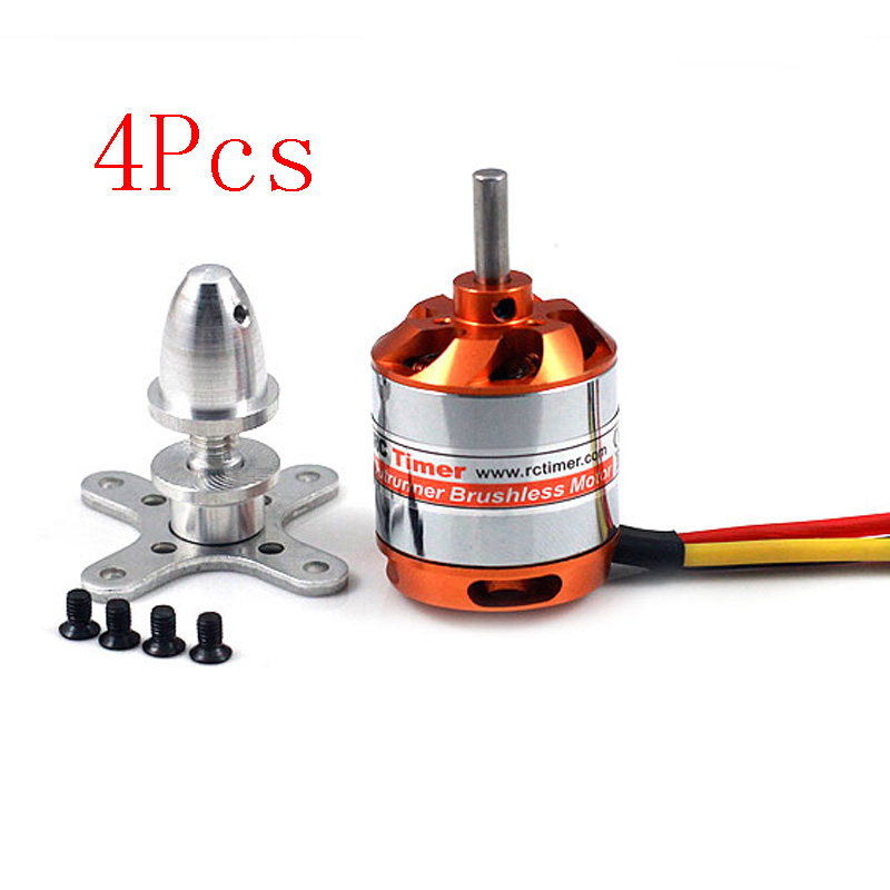 4Pcs Rctimer Brushless <font><b>Motors</b></font> 2836 <font><b>1500KV</b></font> Stainless Steel <font><b>Motor</b></font> Shaft Model Airplane Flight Control RC Parts for Racing Drone image