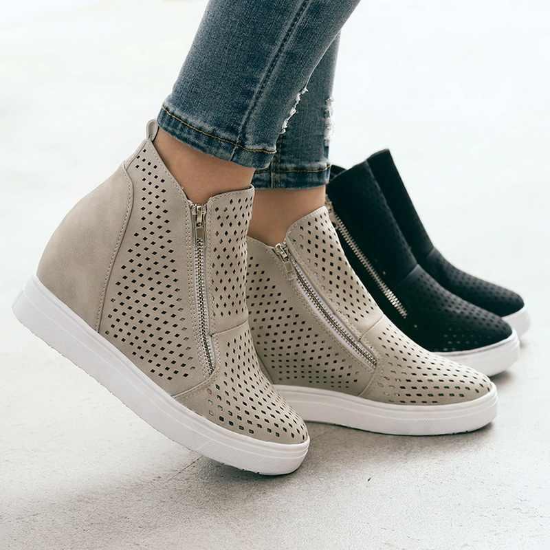 aspetto dettagliato ultimo sconto di prim'ordine Oeak Leather Woman Casual Shoes Scarpe Donna Within The Higher ...