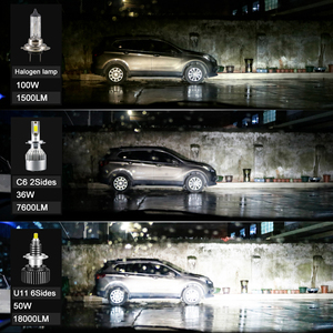 Image 4 - CARLitek 18000LM H11 led مصباح 24 الجانبين 50 واط h7 12 فولت السيارات ضوء 72 قطعة CSP رقائق H8 9005 9006 HB4 HB3 LED سيارة العلوي H7 LED لمبة
