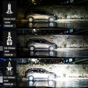 Image 4 - CARLitek lámpara led de 18000LM H11 para faro delantero de coche, Chips CSP H8 9005 9006 HB4 HB3, 24 lados, 50W, h7, 12V, 72 uds.