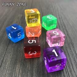 Высокое качество многогранный прозрачный/прозрачный цифровой D6 игральные кости 10 шт./компл. для настольной игры/образования с развлечений/...