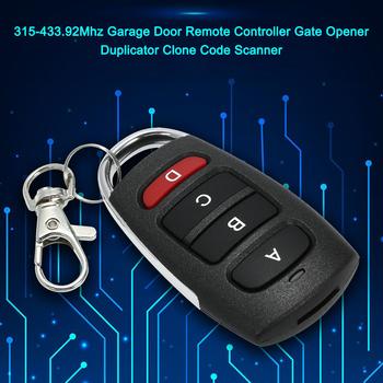 Uniwersalny pilot zdalnego sterowania 433MHz Metal Wireless 4 Key Garage Door dla kluczyk do samochodu duplikator metalowy samochodowy System alarmowy nowy tanie i dobre opinie dostępna CN (pochodzenie) China