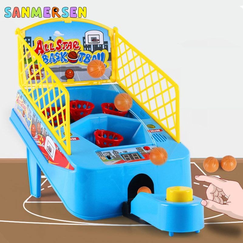 Kids Mini Finger Basketball Sports Shooting Toy Family Games Desktop Table Fun Party Board Games For Children Interactive Toys image
