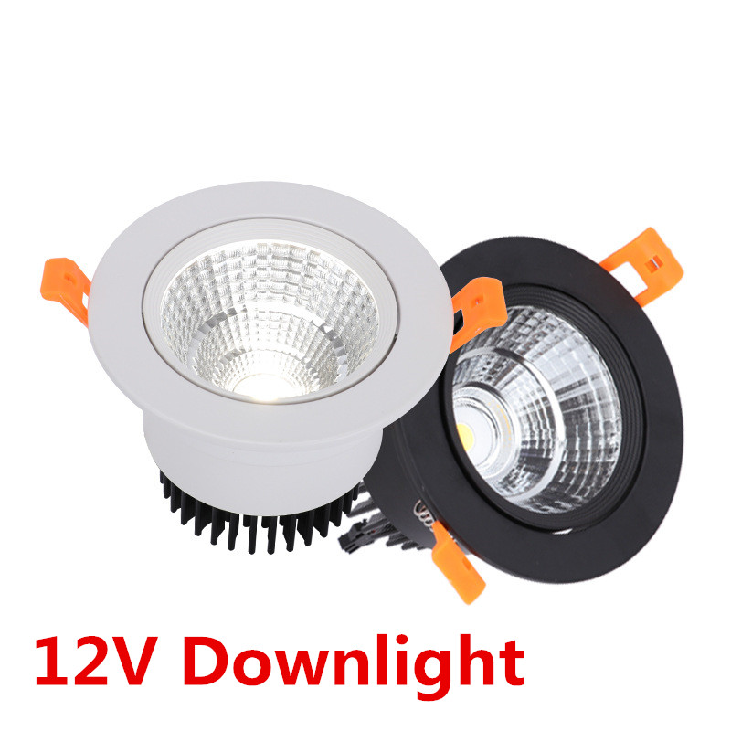 <font><b>LED</b></font> <font><b>Downlights</b></font> Recessed COB 5W 7W 9W 12W AC/DC <font><b>12V</b></font> <font><b>LED</b></font> Spot light White Round Lamp <font><b>LED</b></font> decoration Ceiling Lamp image
