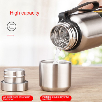 Thermos For Tea Large Capacity Thermal Mug Stainless Steel Vacuum Bottle Military Style Outdoor Vacuum Flask 500/750/1000/1500ml