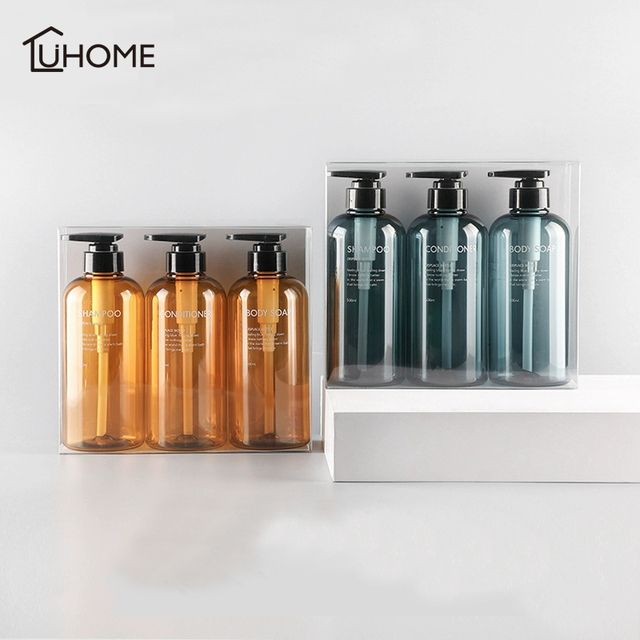 3pcs Soap Dispenser Bottle Hand Sanitizer Bottle Cosmetics Shampoo Body Wash Lotion Bottle Outdoor Travel Tools 300ML/500ML