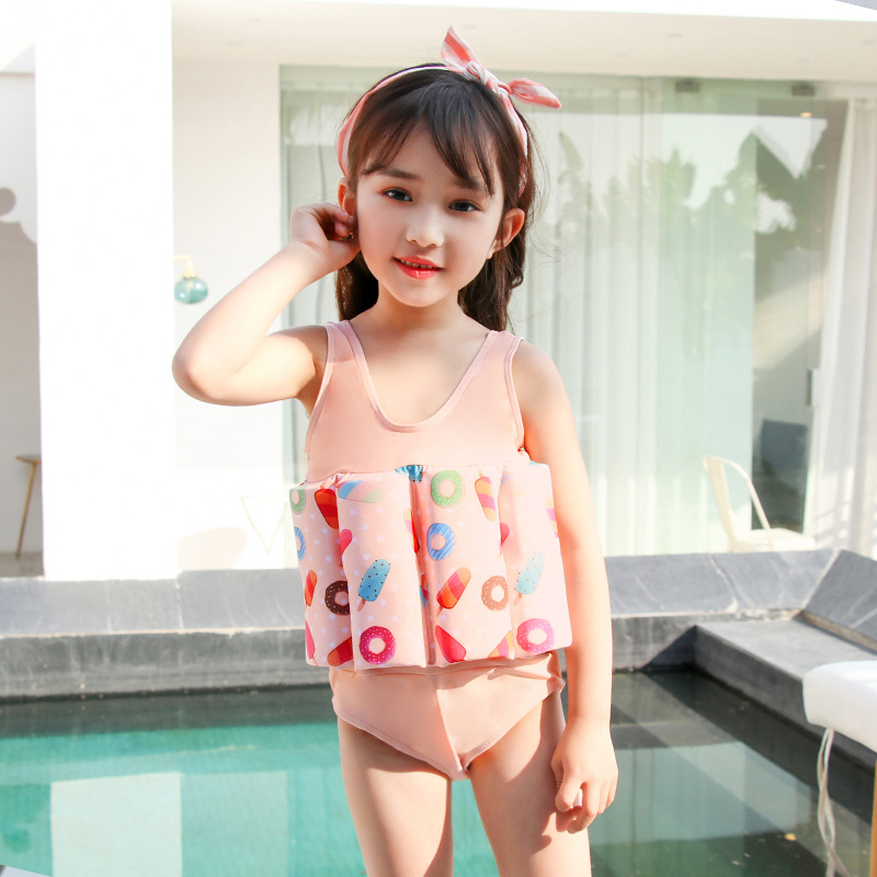 CHILDREN'S Buoyancy Swimsuit GIRL'S Cute Fresh GIRL'S Swimsuit BABY'S Bathing Suit Baby One-piece Floating Tour Bathing Suit