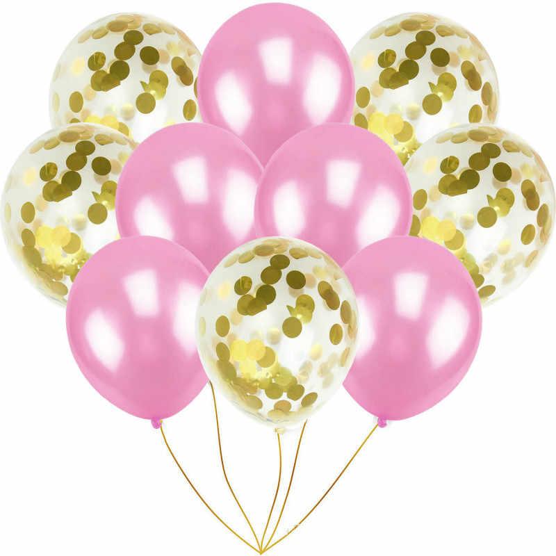 """Смешанный воздушный шар """"Конфетти"""" День рождения украшения Дети для свадьбы или «нулевого дня рождения» DIY девичник вечерние столовые принадлежности"""