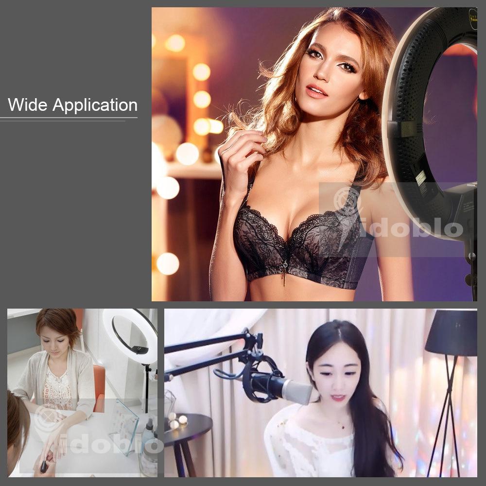 Hdc72f6119b1c4ee390e191a418ba2debX Yidoblo 96W Ring Light FD-480 Pro Beauty Studio LED Ring lamp Kit 480 LEDS Video Light Lamp Makeup Lighting + stand (2M)+ bag
