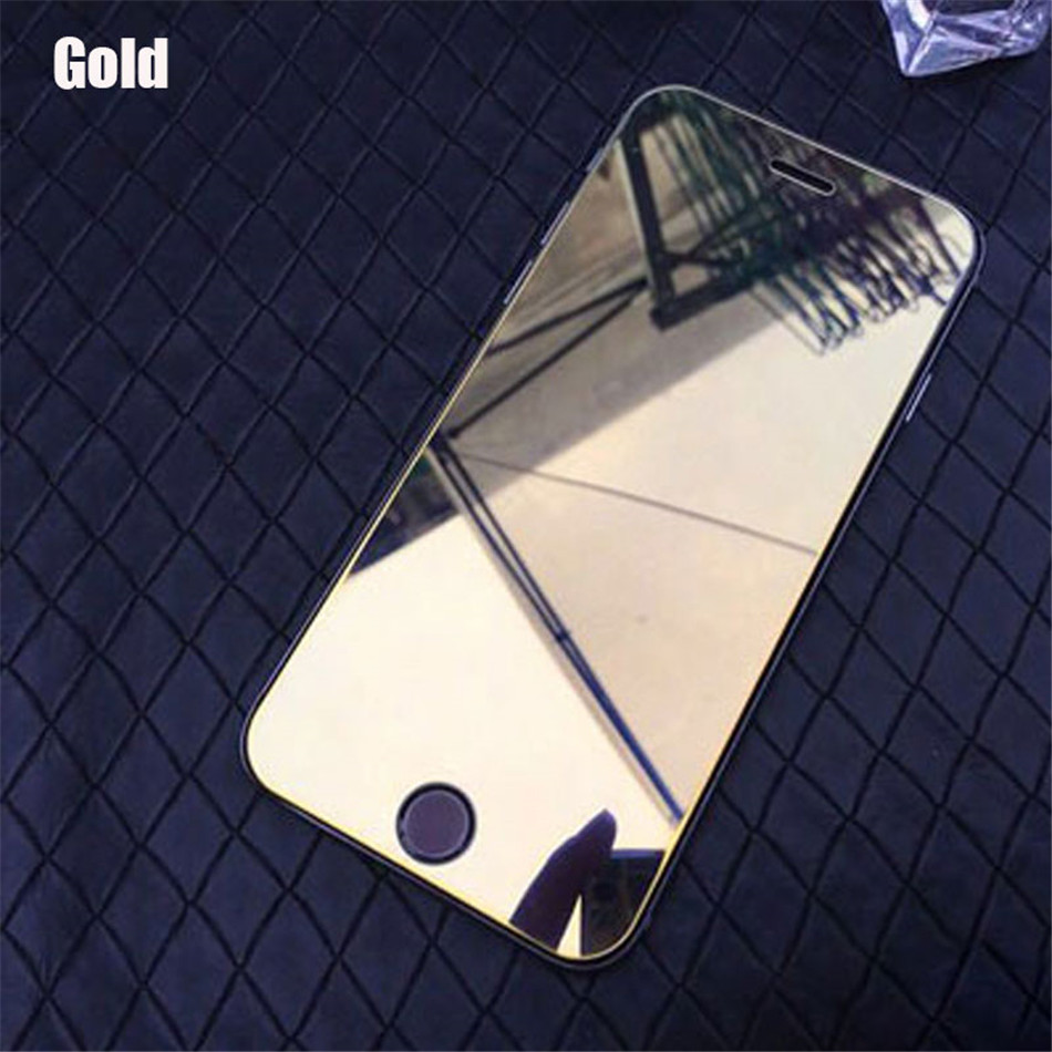 Colorful Mirror effect Tempered Glass Screen Protector for iPhone X XR XS Max 5S 5C SE 6 6S 7 8 Plus Full Cover Protective Film  (6)