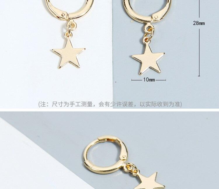 European and American Best Selling Earrings with Moon Star Earrings Female Ear Clip Ear Stud Ornament for Women Wholesale