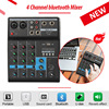 LEORY Professional DJ Mixer 4 Channels bluetooth Sound Mixing Console For Karaoke KTV With USB MP3 Jack Live Audio Mixer