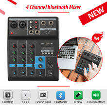 LEORY Professionelle DJ Mixer 4 Kanäle bluetooth Sound Mischpult Für Karaoke KTV Mit USB MP3 Jack Live Audio Mixer