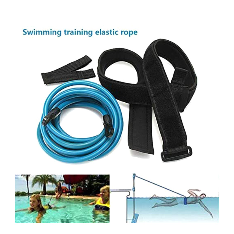 New Adjustable Swim Training Resistance Elastic Belt Swimming Exerciser Safety Rope Tube Swimming Exerciser Safety Home Training