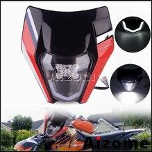 LED kafa ışık kir bisiklet motosiklet far kaporta için XC W 250 300 EXC EXC F 300 500 altı gün TPI 690 Enduro R far