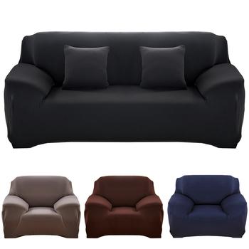21 kolorów do wyboru jednokolorowa narzuta na sofę stretch seat poszewki na kanapę narzuta na sofę Loveseat Funiture wszystkie narzuty na ręczniki osnowy tanie i dobre opinie leorate Single-seat sofa Three-seat sofa Four-seat sofa Sofa cover Rozkładana okładka Gładkie barwione Nowoczesne Stałe