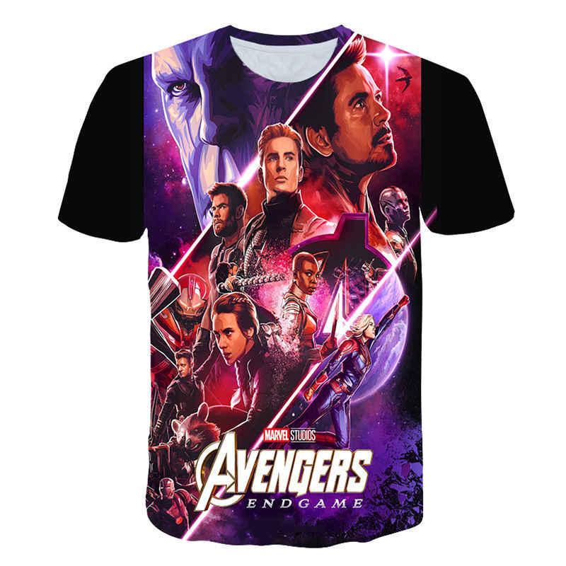 2019 nuevos vengadores 4 camiseta final impresión 3d superhéroe América hulk thor camiseta Cosplay Camiseta Hombre Nuevo camiseta de moda de verano