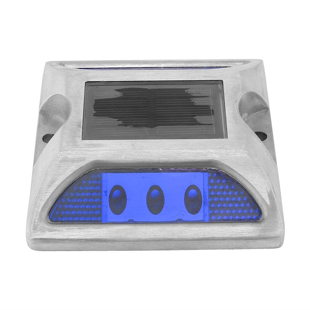 Aluminum Alloy Solar Spike Lights LED Highlight Spike Light High Resistance Waterproof Road Lighting Red/Yellow/White/Green/Blue