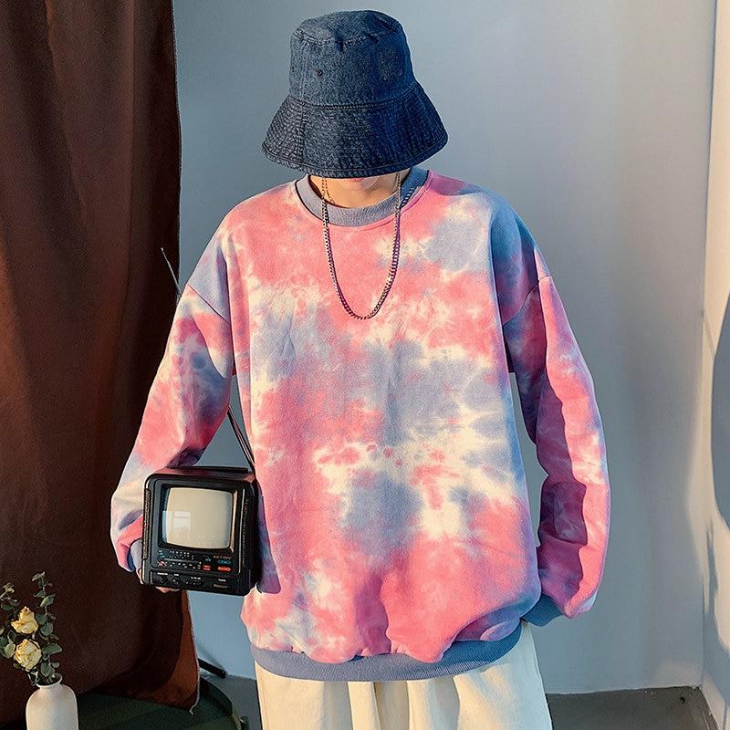 New Cotton Men  Japanese Style Streetwear Hoodies 2019 Autumn Mens Sweatshirts Lovers Korean Hoodies Casual Pink Clothing