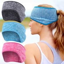 Fashion Winter Sweatband Ear Warmer Ponytail Headband Women Men Windproof Running Headband Yoga Outdoor Sports Fitness Headscarf