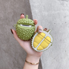 3D cartoon case Protective Case For AirPods Cover Silicone apple headphone Airpods 1/2 Durian fruit cover