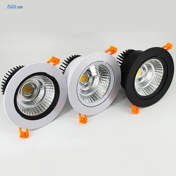 Możliwość przyciemniania AC85V-265V 5W7W9W12W15W18W25W30W lampy sufitowe LED lampy sufitowe LED lampy wbudowane reflektor LED typu downlight tanie i dobre opinie FLDJL Metrów 5-10square Kuchnia Jadalnia Łóżko pokój Foyer Badania Łazienka ROHS 90-260 v Brak Aluminium Pokrętło przełącznika