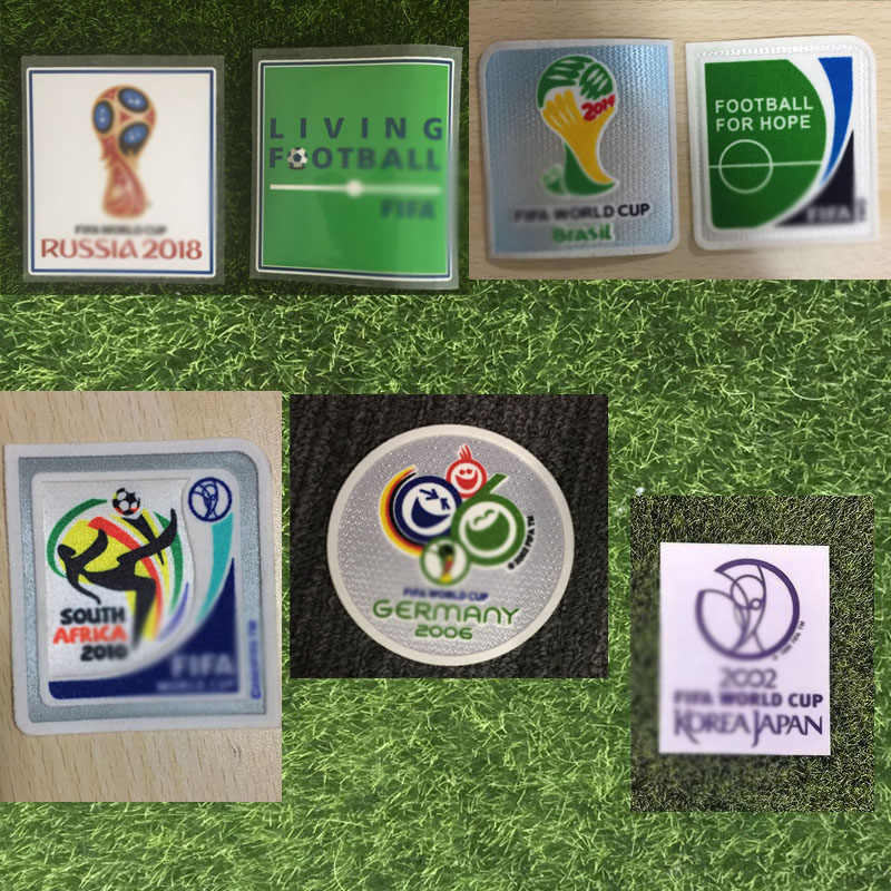 2002 2004 2006 2010 2014 2018 World Champions Cup Patch Warmteoverdracht Voetbal Badge