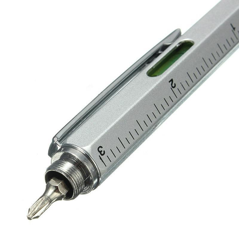 Multi-function 6 In 1 Tool Screwdriver Ballpoint Pen Screen Touch Capacities Phone Handwriting Ballpoint Pen Tool Pen