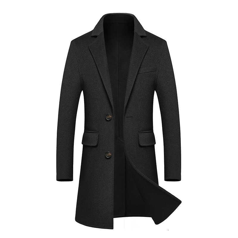 Lüks yün yün palto erkek uzun fon İki taraflı yün adam rüzgarlık iş boş zaman yün erkek gevşek ceket