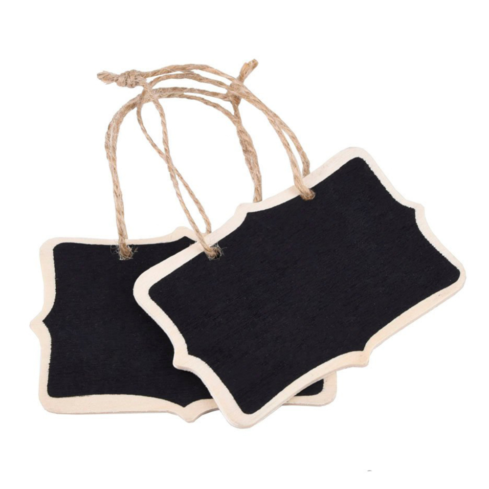 36pcs Hanging Chalkboard Mini Double Sided Hanging Chalkboards Blackboard With String Message Black Board Office School Supplies