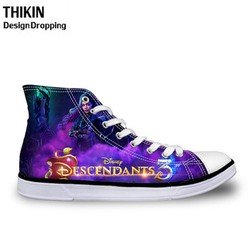 THIKIN Descendants Teenager High Top Canvas Shoes for Girls Casual Female Lace Up Vulcanize Shoes Breathable Sneaker 2019 Spring