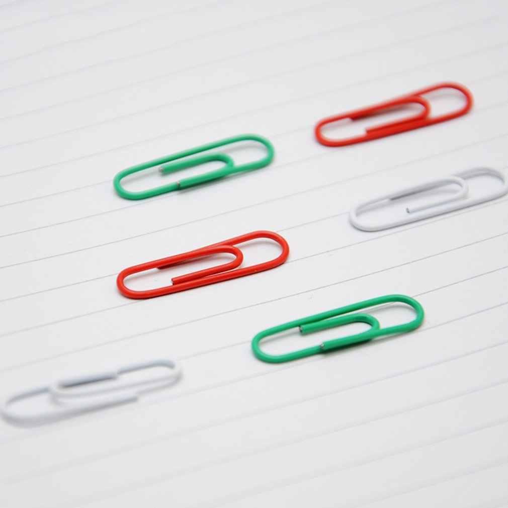 200 stks/doos Duurzame Metalen Materiaal Papier Clips Pin Anti-Verroest Bladwijzer Clip Kantoor Shool Briefpapier Markering Clips