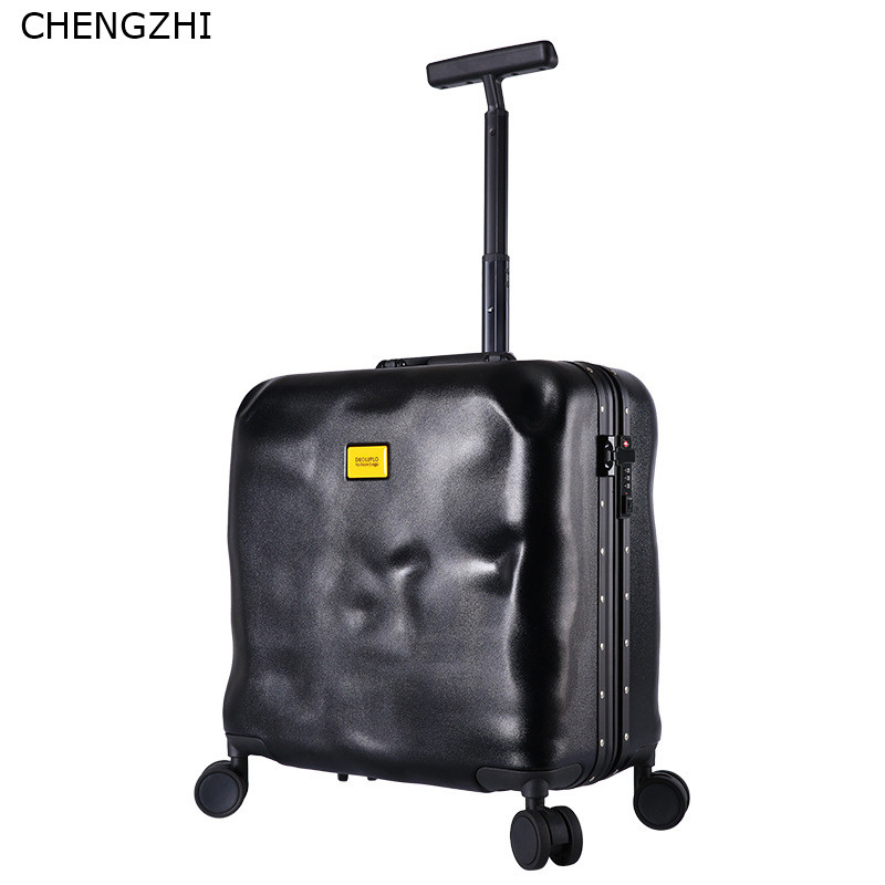 CHENGZHI High Quality 18inch personality rolling luggage spinner wheel men women travel carry on trolley suitcase