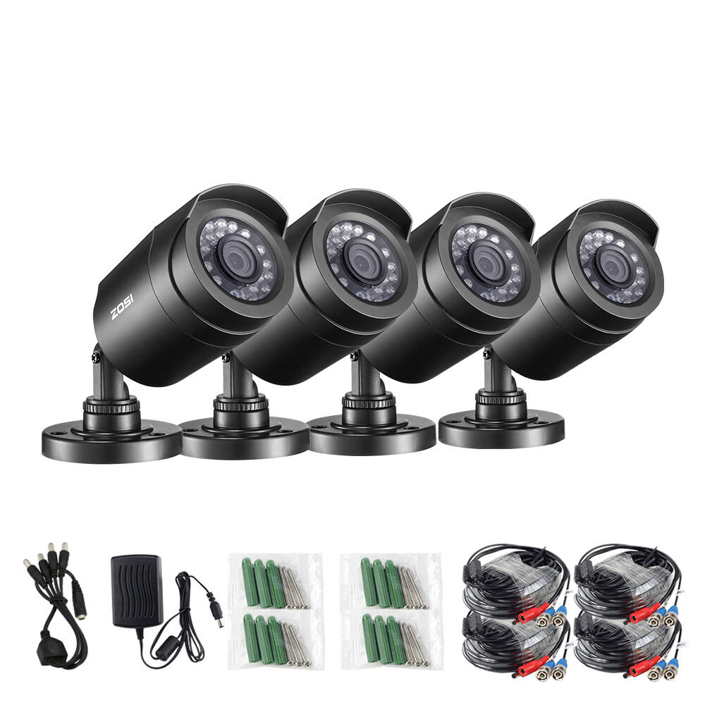 ZOSI 4pcs/lot 1080P HD-TVI 2MP CCTV Security Camera ,65ft Night Vision ,Outdoor Whetherproof Surveillance Camera Kit
