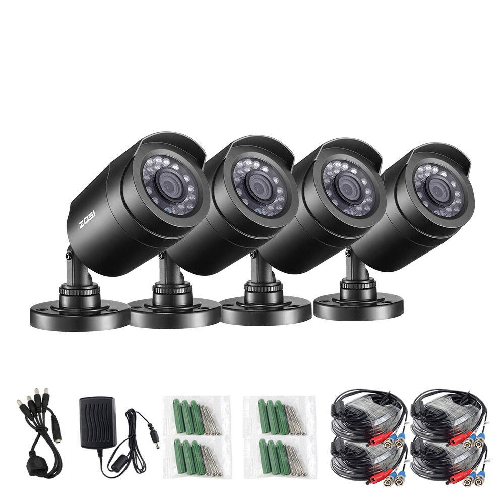 ZOSI 4pcs/lot 1080P HD-TVI 2MP CCTV Security Camera ,65ft Night Vision ,Outdoor Whetherproof Surveillance Camera Kit