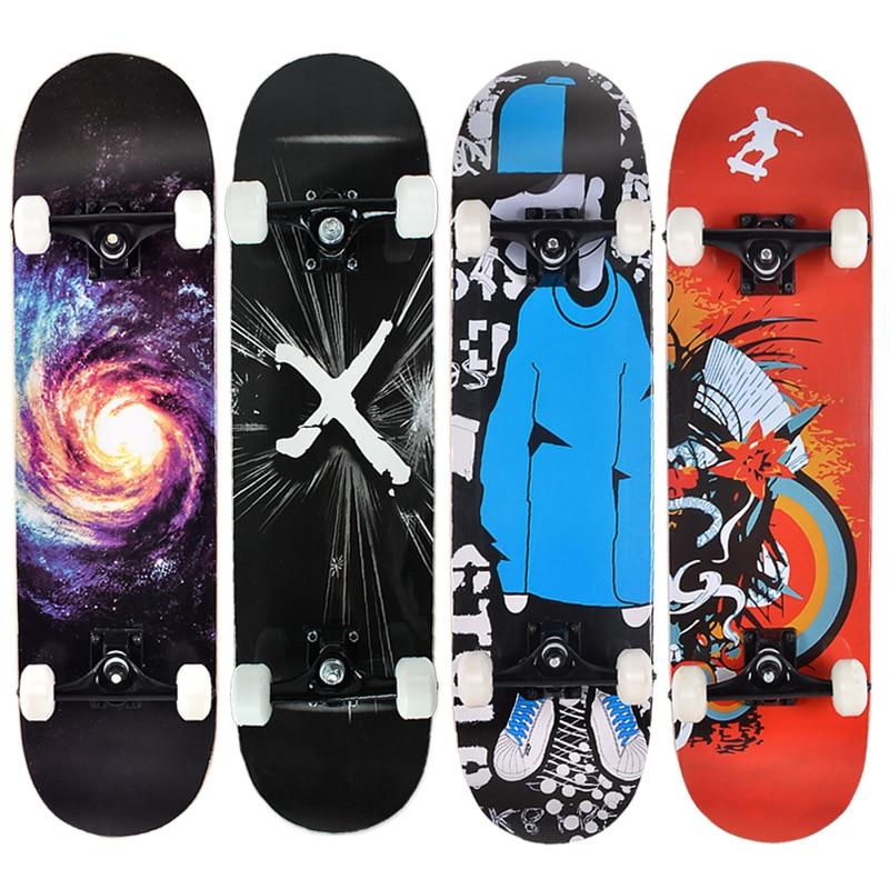 MS102 Adult Intermediate Level Skateboard Set Luminous Wheel Abec-7 Bearing 95A Pu Wheel 7ply Chinese Maple Skateboard Set