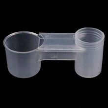 Bouteille d'eau transparente en plastique Portable mangeoire pour oiseaux, tasse d'abreuvoir, Cage à oiseaux, accessoires, bol d'eau