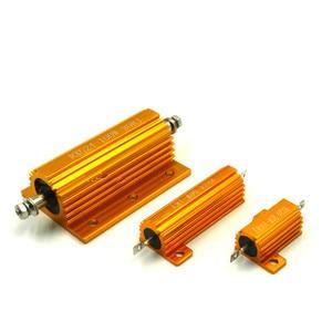 Алюминиевый корпус RXG24 75 Вт, чехол с проволочным резистором + 5% -5% 100/150/200/300/500/1K/2K/3K/5K/10K/15K/20K/30K Ом 1 шт.