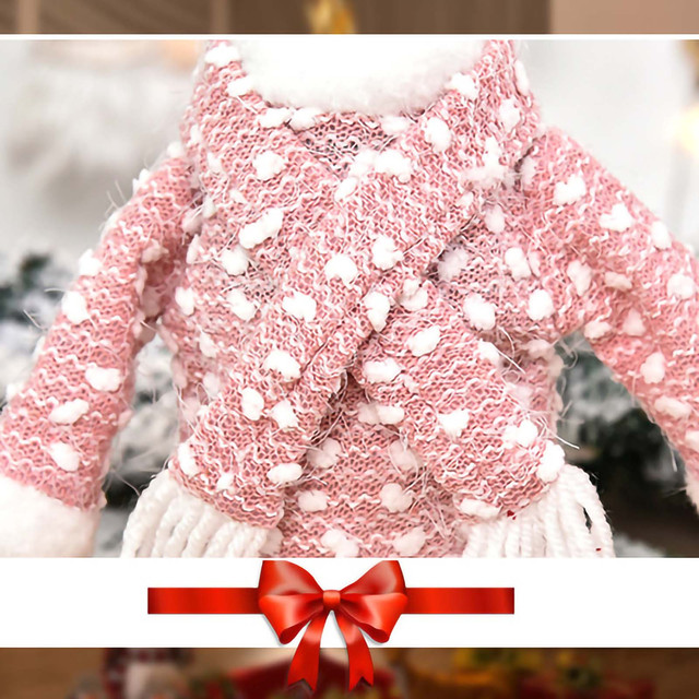 Christmas home decorations Christmas Decorations Mini Cute Knitted Fabric Dress Suit Wine Bottle Cover boże narodzenie navidad 6