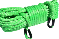 Green 12mm*45m Synthetic Winch Rope Extension,Replacement Extension Rope for Winch,Replacement Winch Cable