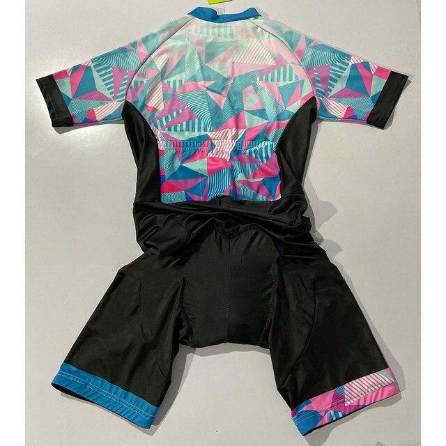 Macacão de verão feminino, roupa de ciclismo, equipe ciclopp, uniforme de bicicleta, triathlon, terno para corrida, kit de roupa de praia 4