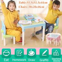 Children's Study Table and Chairs Cartoon English Alphabet Table For Kid Furniture Sets Writing Toy Game Table And Chair Set(China)