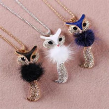 2018 Hot fashion charm fox copper collar sequin pendent Choker long necklace For Women retro Jewelry wedding sweater chain(China)