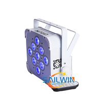 9*18W RGBWA UV Wireless DMX Uplighting Battery Operate Wifi&IRC Remote Control DJ LED Par Can Wash Light Disco Wedding Uplights
