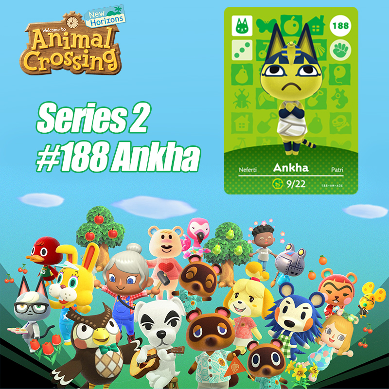 Animal Crossing New Horizons Card Amiibo Card Work For NS Switch Game  #188 Ankha Cards Drop Shipping