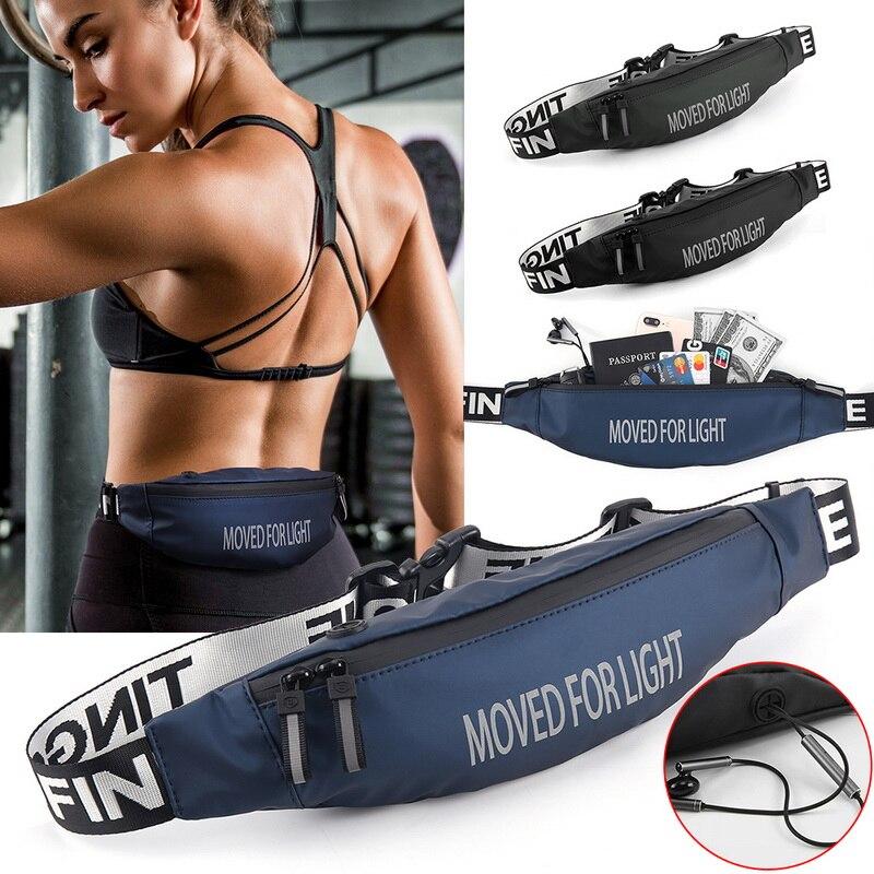 Unisex Running Waist Bag Men Women Outdoor Sports Riding Fitness Fanny Pack Black Bag Waterproof Sport Belt Waist Bags For Phone