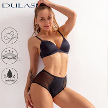 Breathable Menstrual Panties Sexy Women Underwear 4 Layer Leakproof  lingerie  Hollow out Mesh Briefts Fast Absorbent Undies DUL
